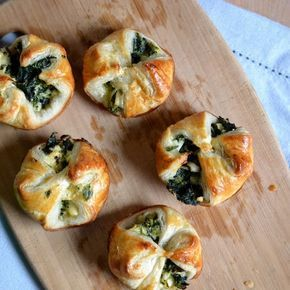 Heart of Gold and Luxury: Spinach Feta Puffs. Perfect for a tapas party!
