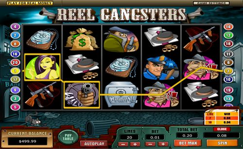 The Reel Gangsters slot by Top Game is a 5-reel, 20 payline that boasts a maximum win of up to 10,000 coins ---> http://ow.ly/C9F49