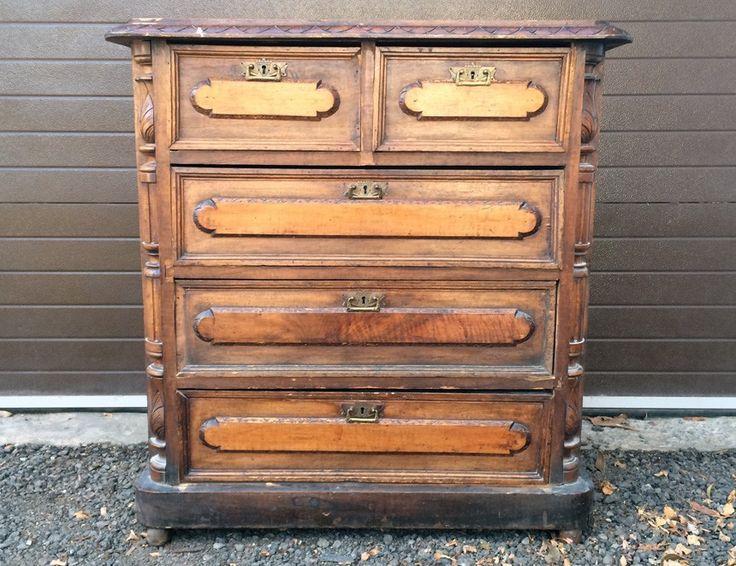 Старинный небольшой комод #antique #antik #sale #interior #decor #antiq #vintage #retro #kontorak #furniture #oldfurniture #wood #oldtime #antiquities #chestofdrawers
