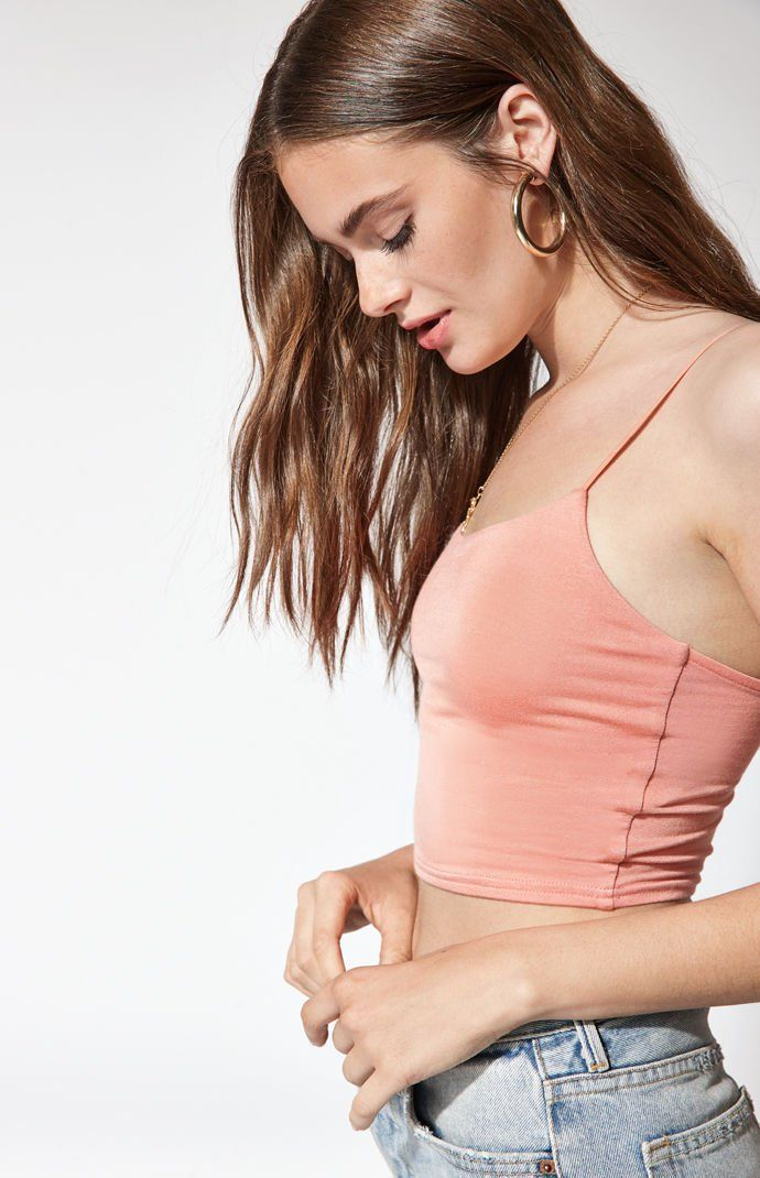 07f0d8dfb1747 PS Basics by Pacsun Easy Cropped Cami Tank Top
