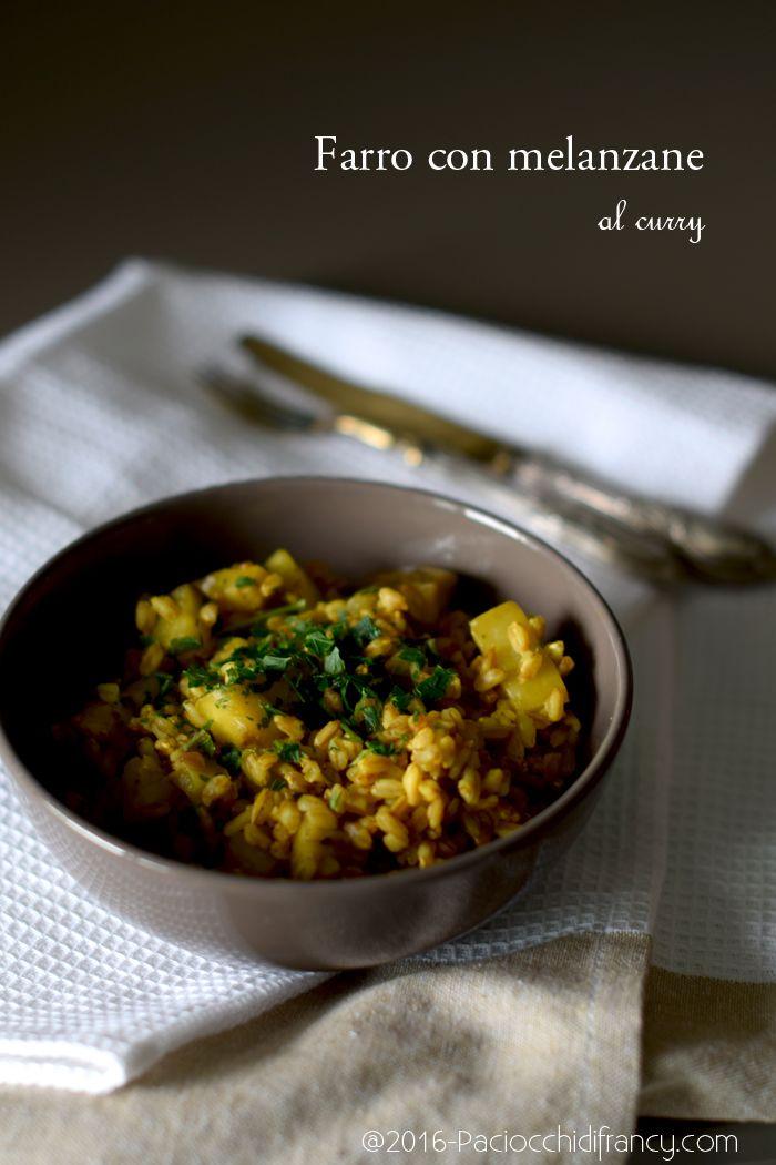 Farro con melanzane al curry