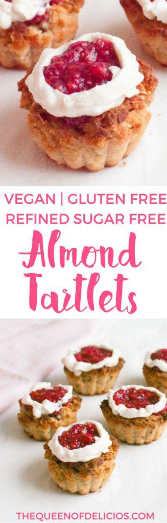 Almond Tartlets | Sugar free baking | Gluten free | Vegan | Healthy baking