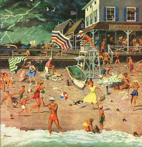 Thunderstorm at the Shore - Ben Prins, 1954Finding Art, Giclee Prints, Beachy Bachelor, Art Prints, Art Com, Ben Kimberly, 1954 Giclee, Art Illustration, Kimberly Prins