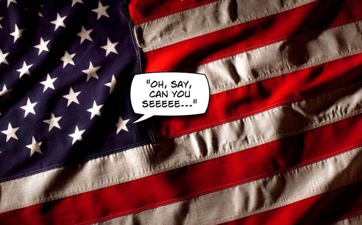 Le drapeau américain comporte 13 (treize) bandes horizontales rouges et blanches, et 50 (cinquante) étoiles. Les bandes représentent les premiers Etats créés par les colons, et les étoiles symbolisent l'ensemble des Etats-Unis d'Amérique.