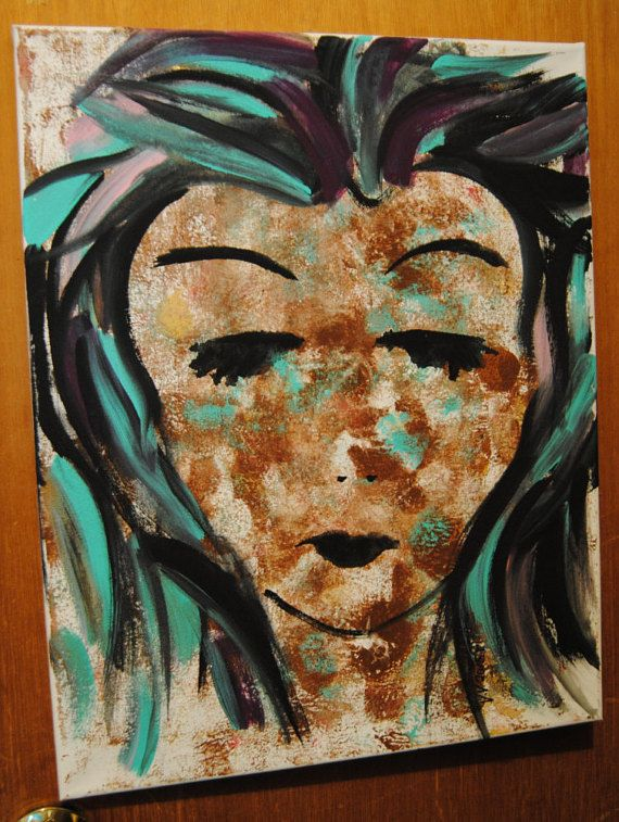 art by valv valvart Hey, I found this really awesome Etsy listing at https://www.etsy.com/ca/listing/245309021/portrait-painting-face-art-dead-tired