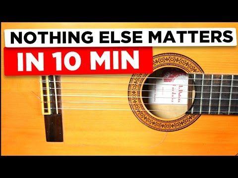 Gitarre lernen für Anfänger - Nothing else matters - einfach erklärt - YouTube