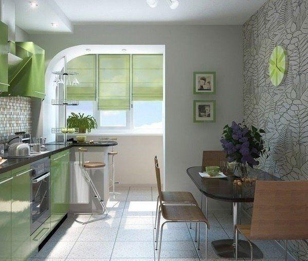 Кухня+лоджия - Дизайн интерьеров | Идеи вашего дома | Lodgers