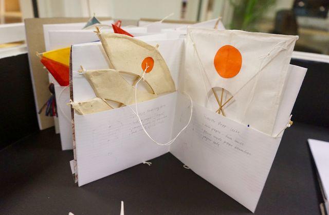 kite workshop + artist book. play