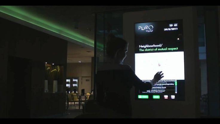 Interface for Infokiosk in PURO Hotel Wrocław (2011)