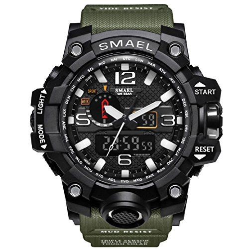 ee8f3ea62e  14.88 - KXAITO Men s Sports Outdoor Waterproof Military Watch Date Multi  Function Military LED Alarm Stopwatch