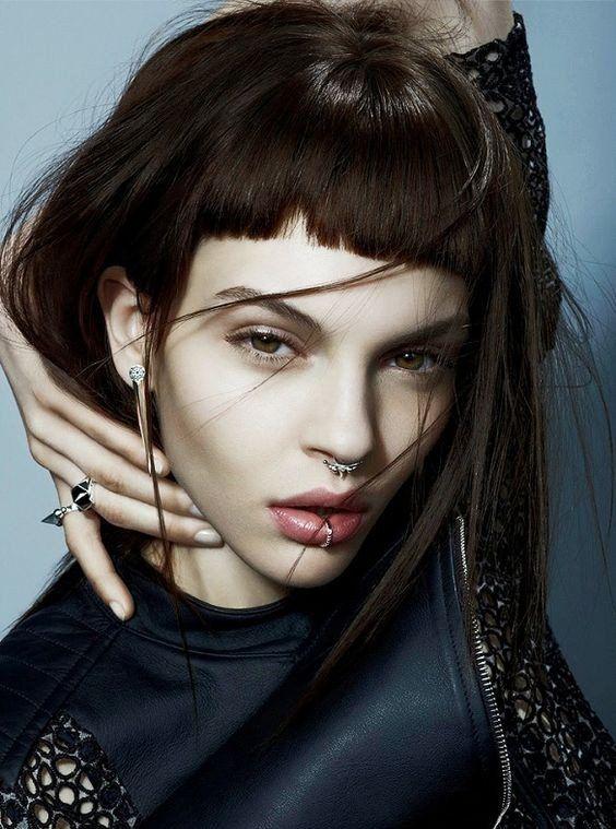 Get This Model Look at MyBodiArt - Fake Septum Piercings