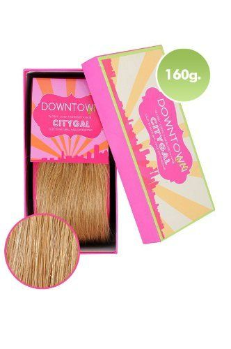 100% Remy Human Hair Clip Extensions in Golden Blonde 160g 20 Inch by Downtown Doll. $124.00. 20 Inch 10 piece set (Full head). Delicious Golden Blonde. Comes in a gorgeous Downtown Doll Gift Box. 100% remy human hair. Clip on hair extensions. 'I want Kardashian hair' - No problem! You haven't been blessed with long luscious locks and you think its time for a change. Understood! Our 100% (Grade AAA) tangle free Remy human hair just clips in to give you that glossy but natur...