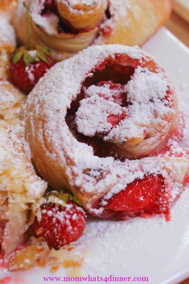 Strawberry Cheese Swirls for Christmas morning breakfast