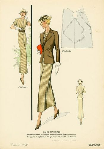 When women had real style and pride in their appearance!  1930s Fashion Plate from NYPL by baronessvonvintage, via Flickr