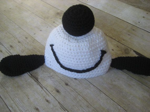 Dancing Snoopy Inspired beanie Peanuts by BonniesBonnetsNBows