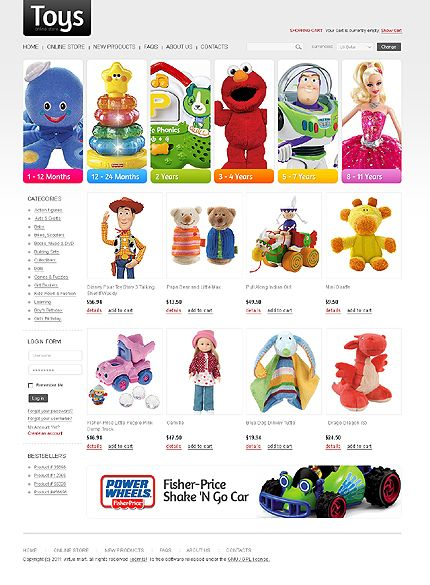 Toys Store VirtueMart Templates by Di