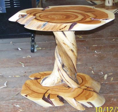 Daves Custom Log Furniture, Twisted Juniper and Blue Pine Furniture
