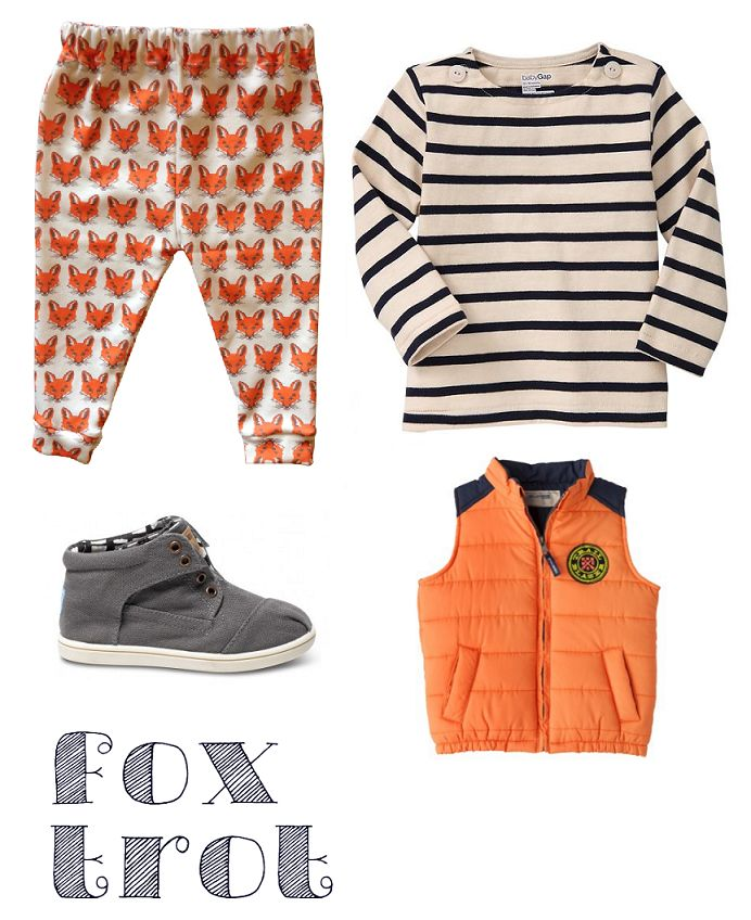 Baby Boy Style. Fox Leggings. Puffer Vest. Fall favorites. Tiny TOMS.