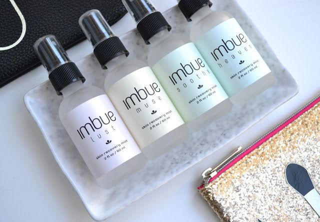 Imbue Rose Water Mists in Lust, Muse, Soothe and Heaven