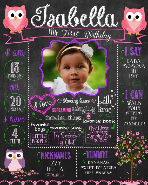 Customized chalkboard sign or poster for childs birthday party and/or birthday photo shoot!    Like the design but have a different party