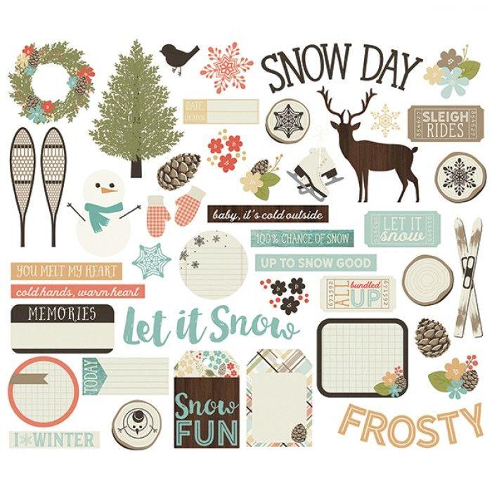 Simple Stories - Winter Wonderland - Bits & Pieces Die Cuts