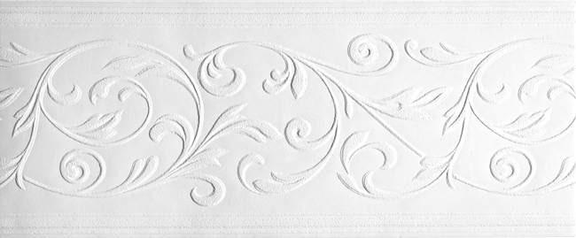 PT1853B Delicate Leaves Paintable Wallpaper Border - Textures