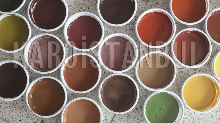 The color testing research conducted by Karoistanbul These colors are very fantastic and amazing...