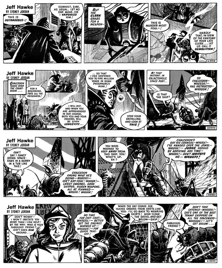 Jeff Hawke sequence, published between March 13, 1961 and August 2, 1961.