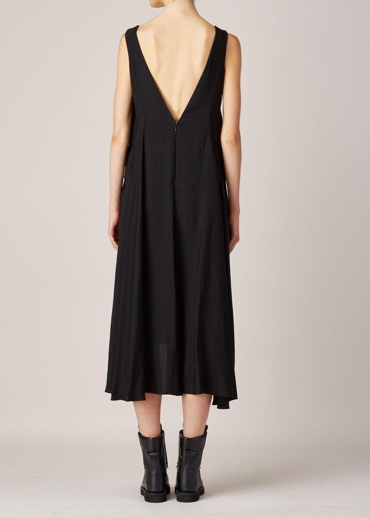 Y's By Yohji Yamamoto BLACK A-LINE DRESS
