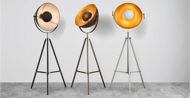 MADE: Chicago staande lamp in zwart en zilverkleur | made.com