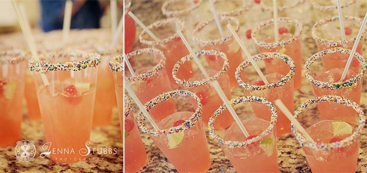 For a teacher friend??? baby shower! sprinkles! cherry limeade drinks! oh my! #babyshower