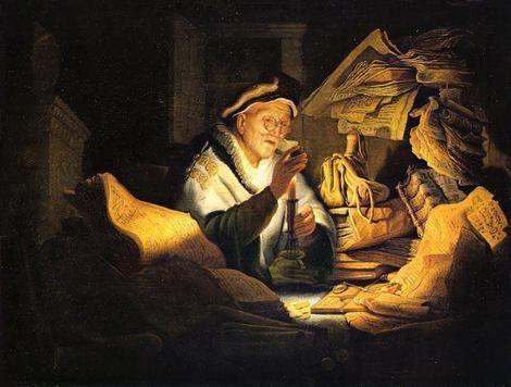 Rembrandt van Rijn, 'La parabola del ricco stolto' ovvero 'Il cambiavalute', (1627).  on ArtStack #rembrandt #art