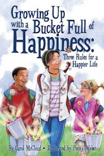 Books That Heal Kids: Book Review: Growing Up with a Bucket Full of Happiness: Three Rules for a Happier Life...M read this at school. Great book. *****Great website to search kids' books by topics like self-esteem, bullying, applogizing, diversity, etc.