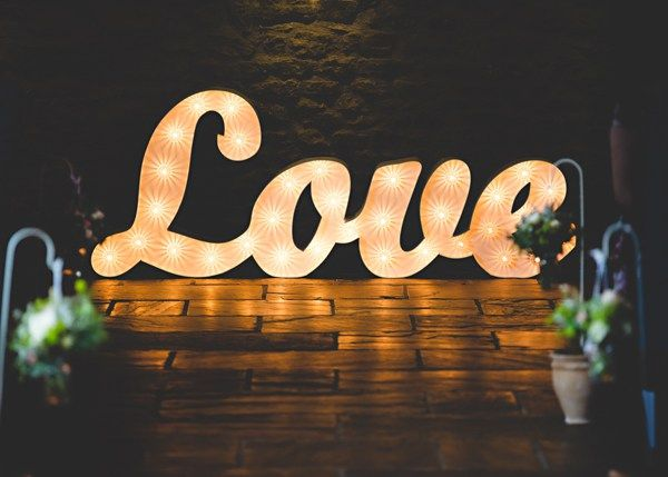 Love Letter Lights Relaxed Rustic Duck Herding Barn Wedding http://hbaphotography.com/
