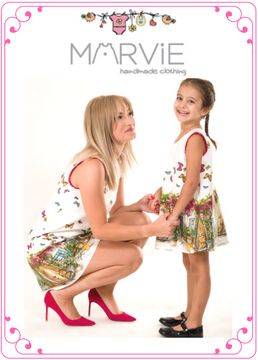 Mommy and daughter matching dresses