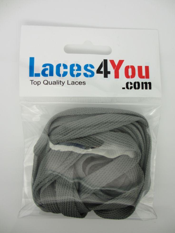 Flat Dark Grey 10mm Laces.