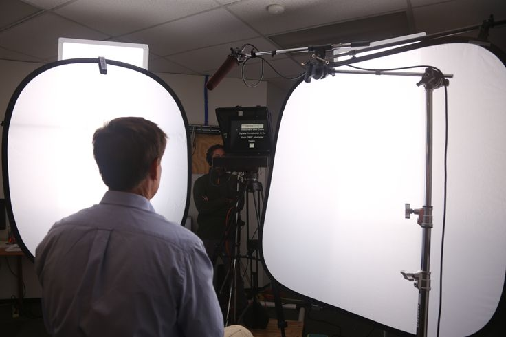 Presenter, Graham Sterling, during one of our many in-studio, training video voice over sessions.