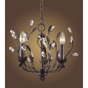 Elk Lighting 3 Light Chandelier In Deep Rust And Crystal Droplets Dining Room