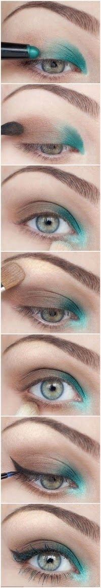 Maquillaje de Sombras en Tonos verdes