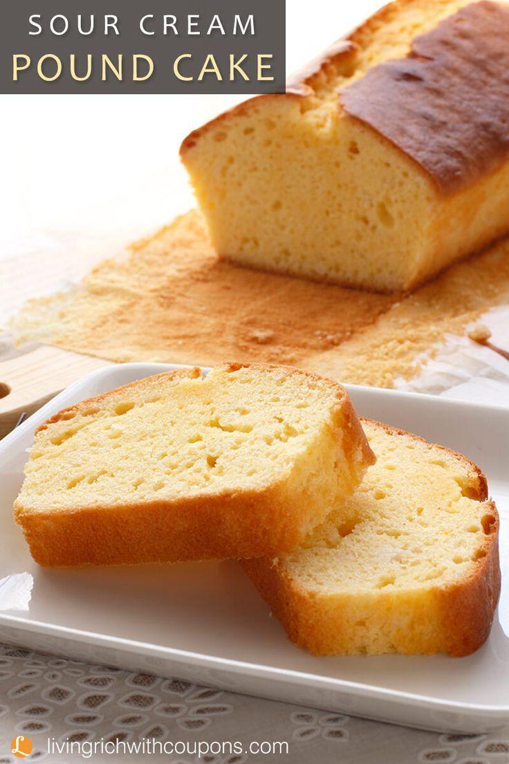 Sour Cream Pound Cake Recipe Summer Everything Pinterest