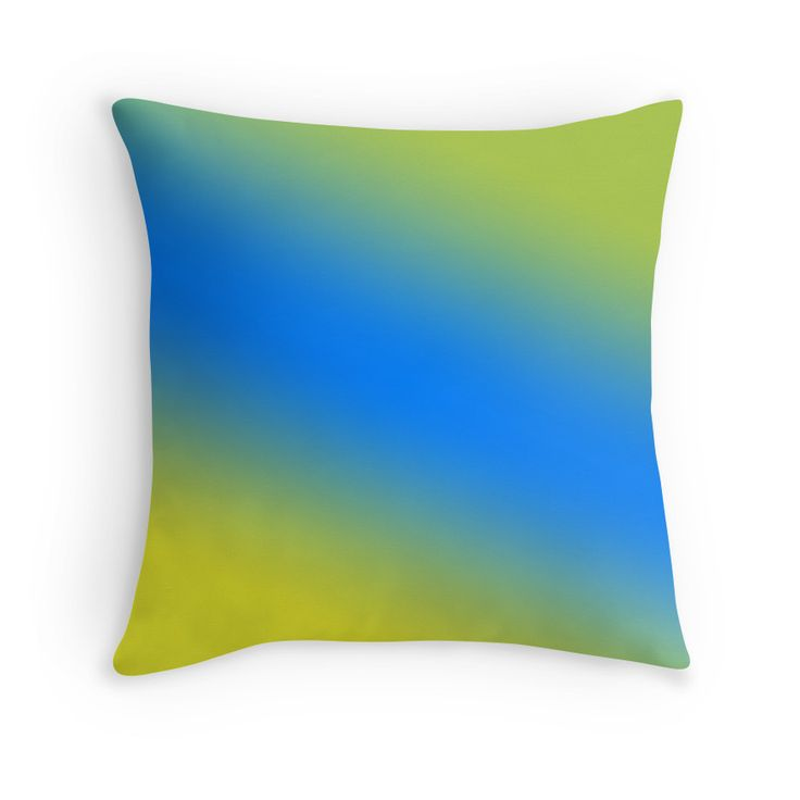 Beautiful Cushions/The Block Collection/TripleThreat Gradient Daffodil Azure Android Green