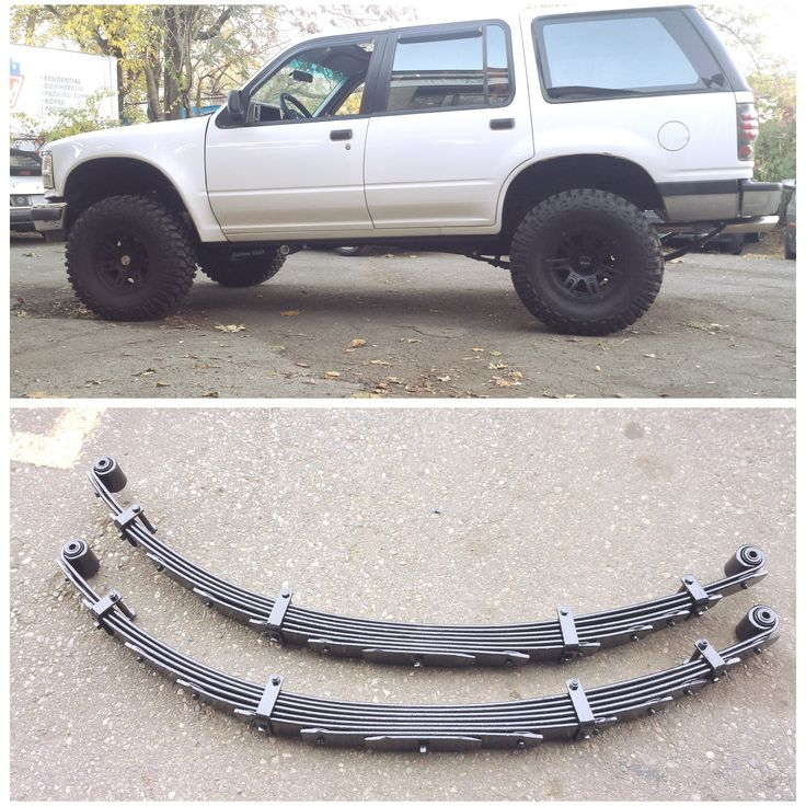 Ford Explorer Custom 4in Rear Lift Springs - Progressive design - gives a smooth ride while still giving enough support to carry all your camping gear