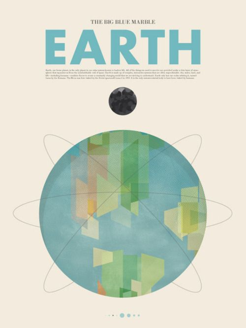 series of really nicely designed posters for a space travel series