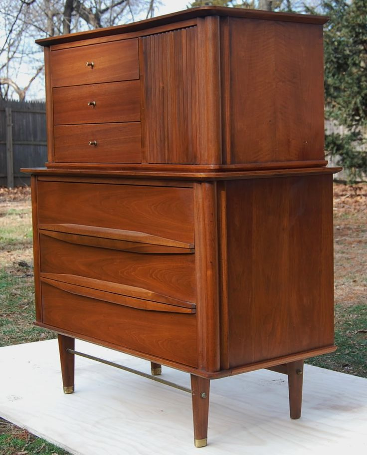 Mid Century Bedroom Danish Mid Century Modern Walnut Full Bedroom Set Queen Size Original