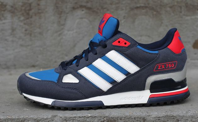 G61242 adidas Originals ZX 750 - Blue/White - Navy