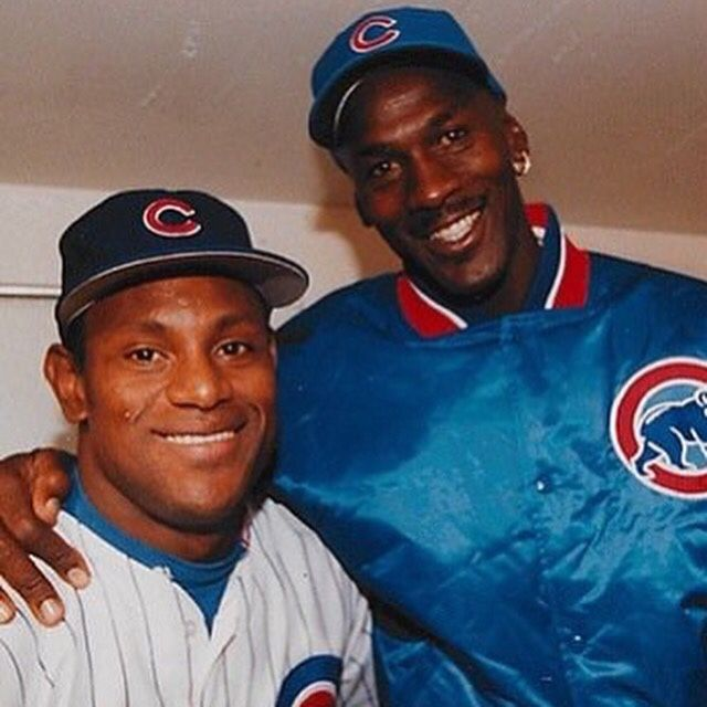 Sammy Sosa & Michael Jordan. What a great photo of these two.