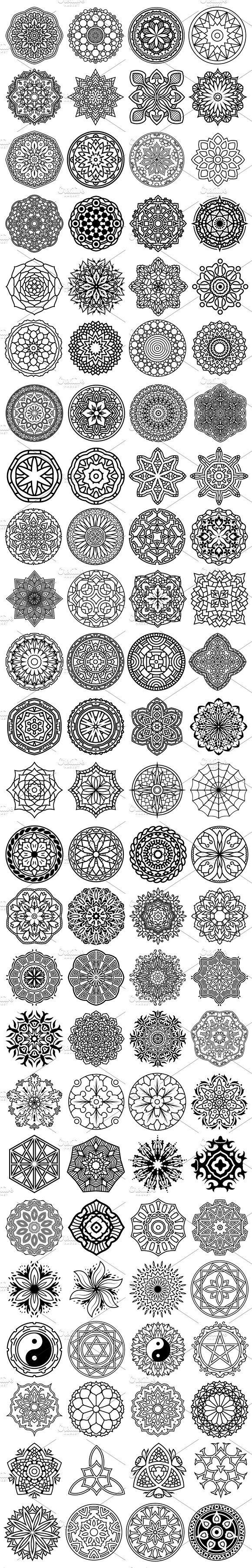 100 Vector Mandala Ornaments - Illustrations