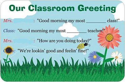 Love this idea..her video is great too!Good Mornings, Mornings Student, Schools Ideas, Dorky Teachers, Kindergarten Ideas, Classroom Mornings, Kindergarten Rocks, Classroom Ideas, Classroom Organic