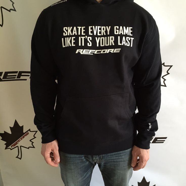 REFcore Skate Every Game Like It's Your Last™ hoodie by Bauer Hockey.  Premium Quality Referee Apparel #refereeapparel #hockey #referee #apparel #refereehoodie #hoodie #hockeyhoodie #skate #bauer #refcore