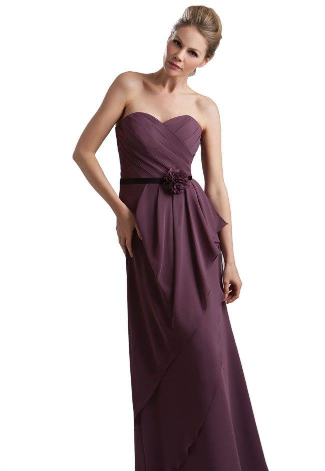 Beautiful purple/plum bridesmaid dress from @True_Bride #wedding #purple #bridesmaid